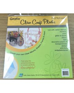 """12"""" x 12"""" Clear craft plastic .020 4 sheets"""