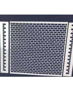 CoolKatz Brick Wall with Masonry Edges Stencil