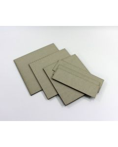 Precision cut grey board cover & spines, set of 3