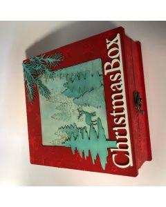 Christmas Keepsake Box with Stencil