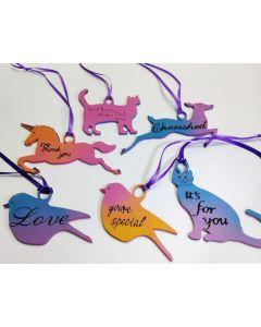 MDF Animal Gift Tags