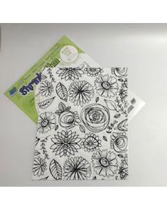 """8.5""""x11"""" Flower Shrink Film Sheet"""