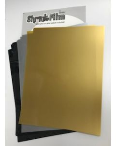 Shrink Film Mixed Colour Pack (Gold, Silver, Black)