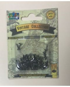 5mm Antique silver brads - pack of 50