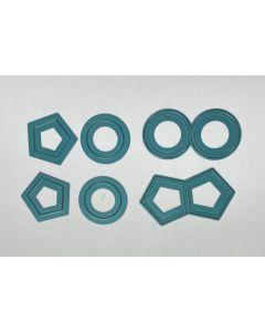Pierced page tab die set- circle and pentagon