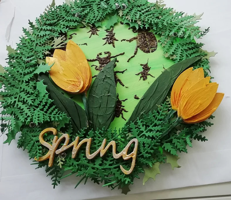 Rosemary - Spring Plaque, made with extra guests!
